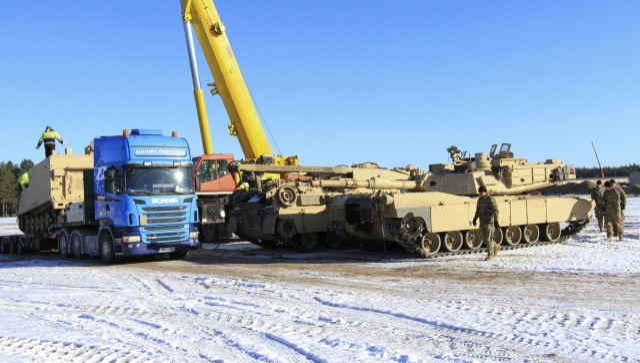 1-68 AR tracks on ground in Latvia