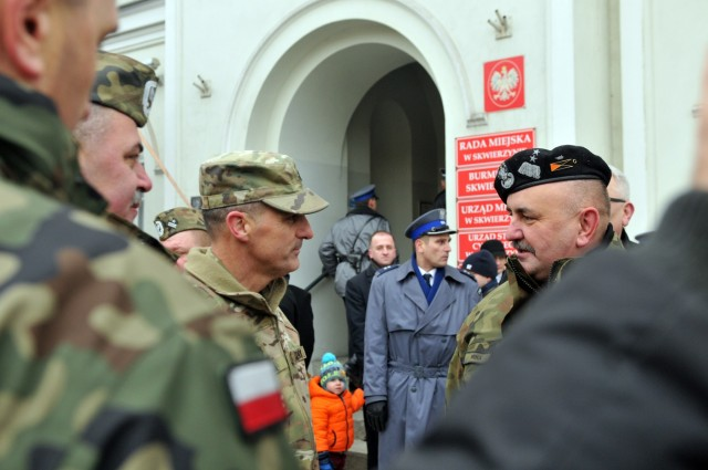 64th BSB, 4th ID is formally welcomed into Poland