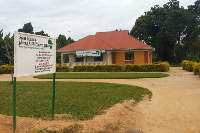 The main clinic and headquarters of the Ssese Islands African Aids Project (SIAAP) in Ssese Islands, Uganda. (Photo courtesy of Maj. Frank Musisi)
