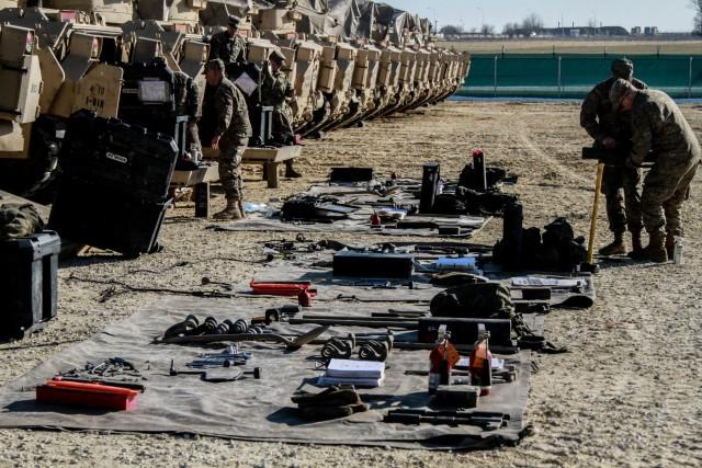 Fighting Eagles prepare equipment for future training in Romania