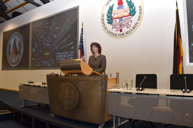 Kerstin Vignard from the United Nations Institute for Disarmament Research in Geneva, Switzerland, gave a presentation on the United Nations Group of Government Experts and how cyber security implications are discussed on that global stage.  The two-and-a-half week long course, designed to build global cyber security capacity through understanding and formulating strategies, attracted 76 military and civilian cyber practitioners from 55 nations.