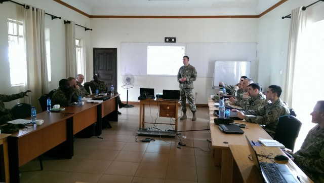 Ugandan and U.S. plan for Africa Readiness Training 2017