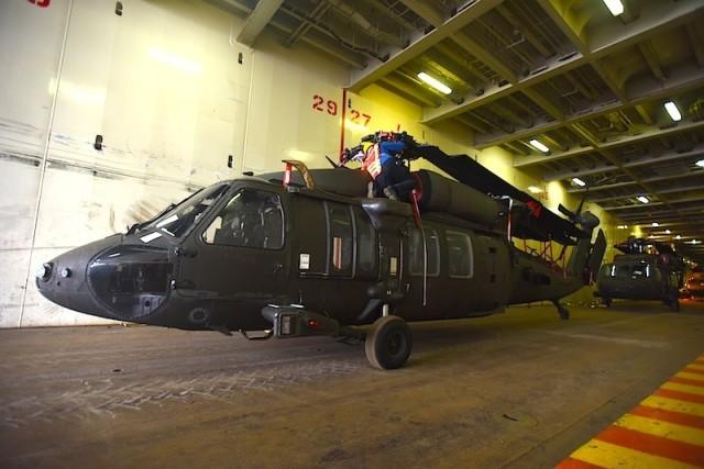 Black Hawks arrive at the Port of Thessaloniki