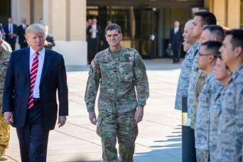 Trump vows to 'extinguish' ISIS, rebuild U.S. military