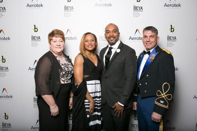 From left to right: Carol Holcomb, Dr. Kem Roper, Dr. Everett Roper, COL David Warnick