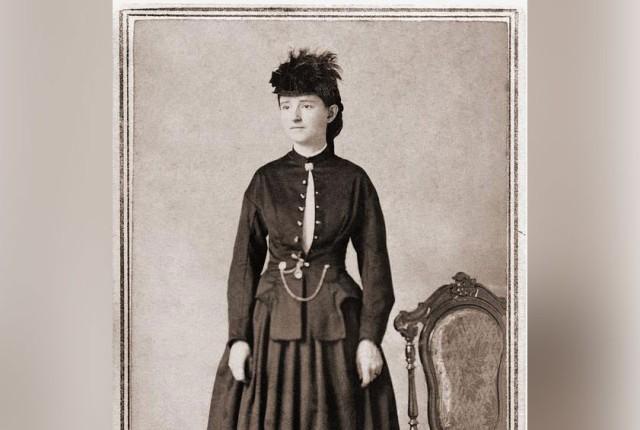 Mary Walker in a Bloomer dress, 1860s.