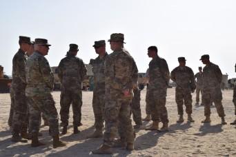 Senior leaders visit Kentucky National Guard Soldiers overseas