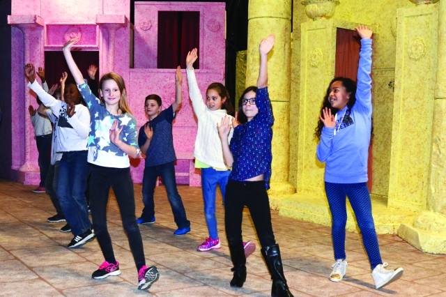 """Aspiring young actors from the Vicenza Military Community show off their dancing skills March 6 during auditions for the Soldiers' Theatre upcoming production of """"Madagascar."""""""