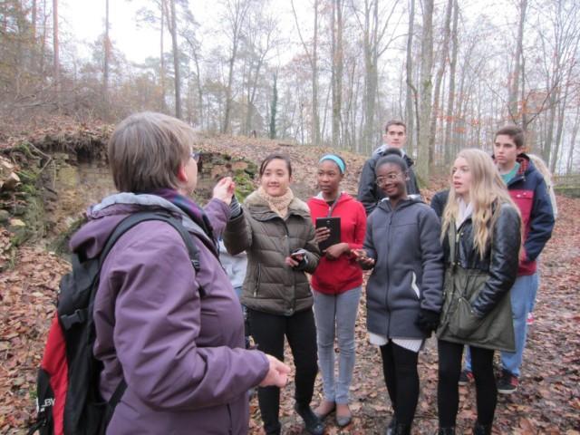 Students at the Grafenwoehr Training Area