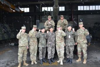 'Dreadnaught' battalion partnership engagement with South Korea tank battalion