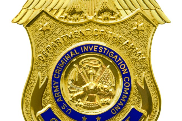 U.S. Criminal Investigation Command CID Agent Badge