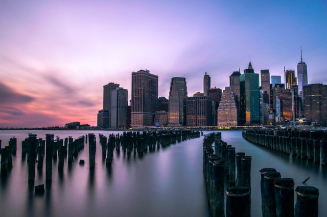 "1st Place winner in Nature & Landscapes, ""Manhattan Skyline at Blue Hour"""