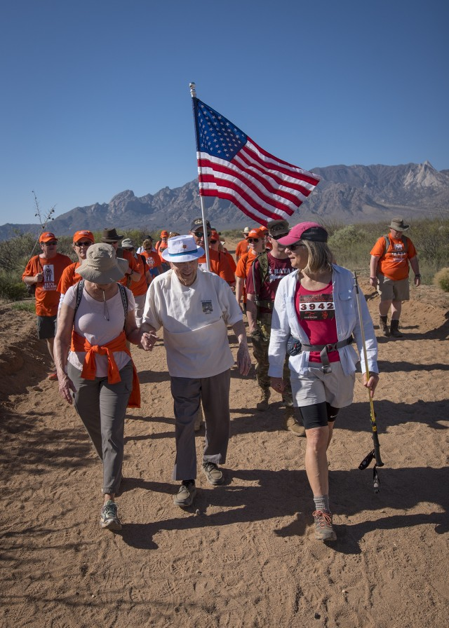 Walking with a WWII hero