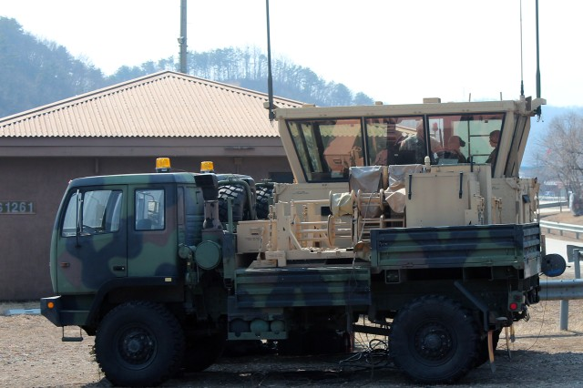 The AN/TSW-7a provides a air traffic control capabilities where none exist. The truck-mounted shelter permits the 4-58th AOB to set up at or near the front lines and provide support to aircraft from all military services.