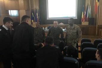 1-8 medics, Navy Corpsmen bring combat lifesaver training to Romanian cadets