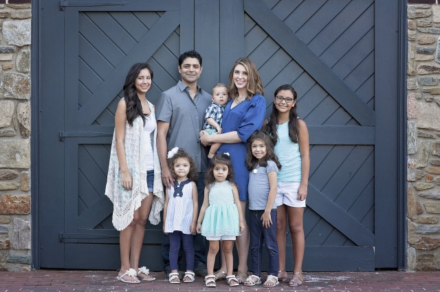 Cassaundra Martinez is seen here with her husband and six children. Martinez, who won the regular Army's military spouse of the year, and Rhiannon Knutson, who is representing the National Guard, are in the running with other branch winners to be called the 2017 Military Spouse of the Year. The winner, which was chosen by online voting earlier this month, will be announced May 12 at a ceremony in Washington, D.C.