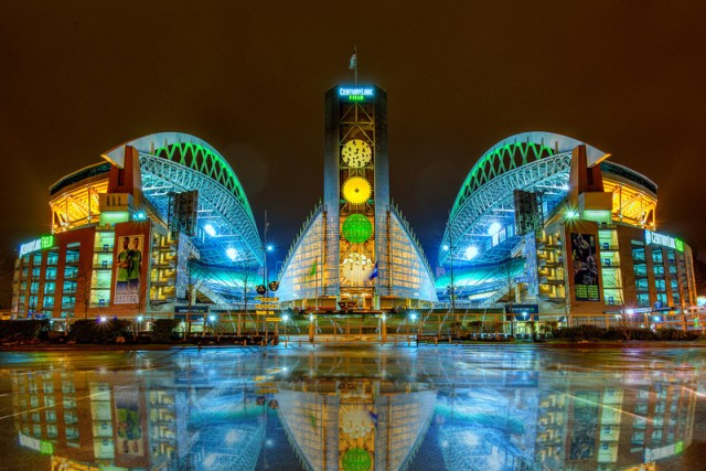 """""""Century Link Field at Night"""" - 1st Place in 2017 U.S. Army Digital Photo Contest"""