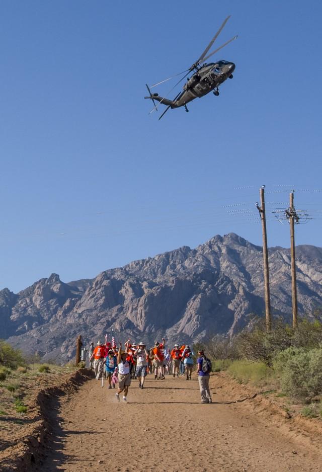 Black Hawk flies over Ben's Brigade