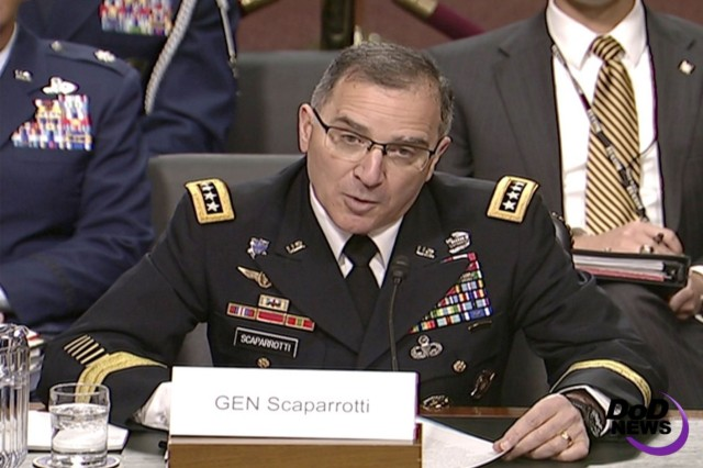 Army Gen. Curtis M. Scaparrotti, commander of U.S. European Command and NATO's supreme allied commander for Europe, March 23, 2017.