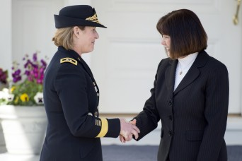 Second Lady Pence honors military women