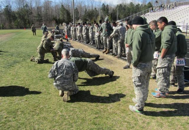 JROTC Students Conduct APFT