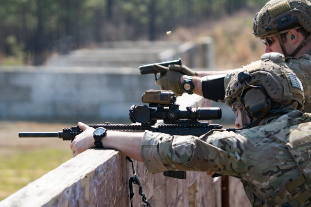 nc a special operations forces sniper team engages targets at varying