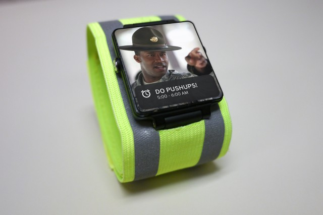 Army officials on Saturday announced it will soon field this personal fitness bracelet that will allow Army leaders to track their Soldiers' fitness in real time. The technology will enable Army leadership to monitor their Soldiers' activity level, physical location, and intake of foods, liquids, and other substances.