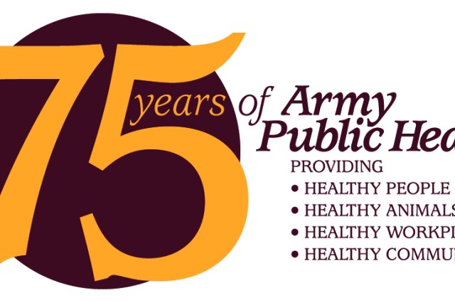 "The Army Public Health Center unveiled a new logo to celebrate its 75th Anniversary in January 2017. The logo, designed by Jerry Arnold, in the Public Health Information Directorate, Visual Information Division, features a crest that lists the abbreviations of all of the APHC's predecessor organizations. The slogan ""Healthy People, Healthy Animals, Healthy Workplaces and Healthy Communities"" serves as a reminder of APHC's vision to be the premier public health organization within the Department of Defense."