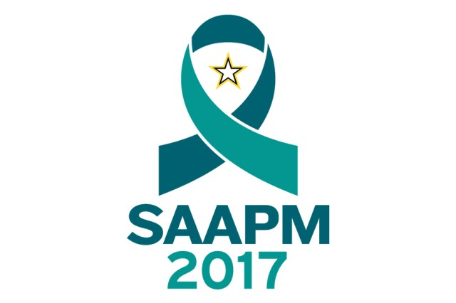 U.S. Army 2017 National Sexual Assault Awareness and Prevention Month, or SAAPM, graphic.