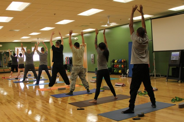 Soldiers benefit from yoga at RAHC as part of an ongoing initiative to encourage readiness. Classes offer participants the chance to experience the positive effects of yoga, many for the first time.