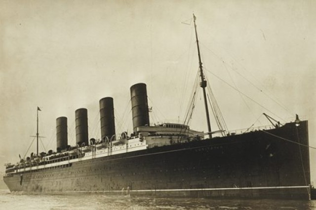The British passenger ship Lusitania.