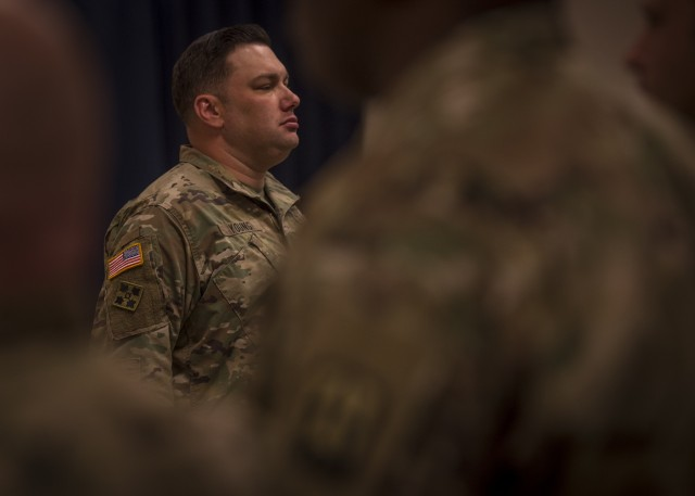 Sergeant standing tall