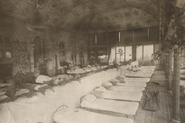 Heavy Surgical Ward, British General Hospital No.13 (Harvard), Casino Municipal, Boulogne, France.