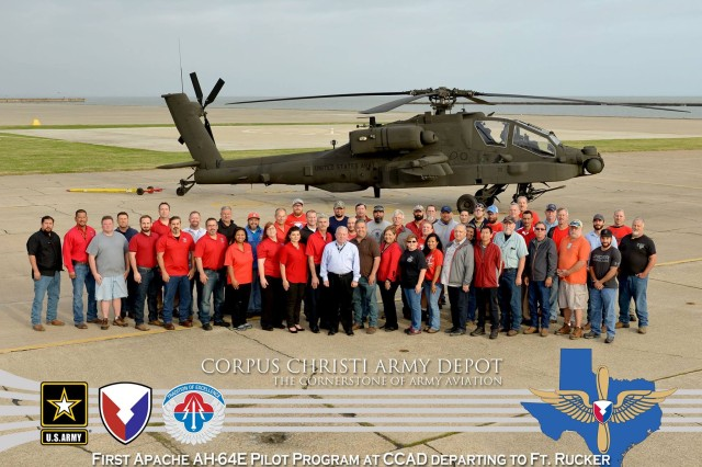 The team at Corpus Christi Army Depot achieved an organizational milestone when it repaired its first AH-64 E-Model Apache crash battle damage aircraft.