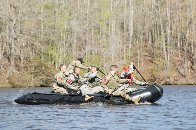 The 105th Engineer Battalion Sapper Stakes Competition held at Camp Butner, North Carolina, pits nine teams of engineers from across the state to battle in a test of strength and skills on April 8, 2017. The event brings together the engineer community to build leadership and camaraderie from across the state of North Carolina Guard and Reserve Component units.