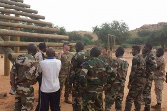U.S. troops observe and enhance Niger basic training