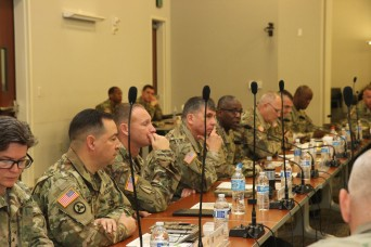 1st TSC and 451st ESC Share Information during Conference