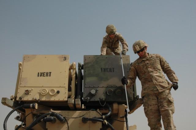 Task Force Spartan Visits Air Defense Artillery Site