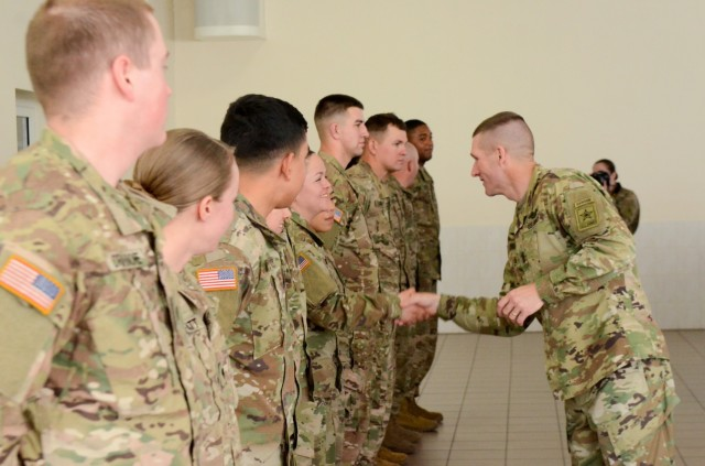 Sergeant Major of the Army visit with 3 ABCT Soldiers in Latvia