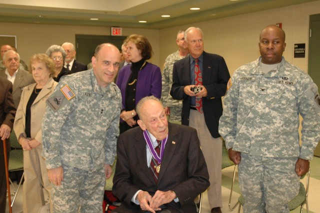 Maj. Gen. Milton Pilcher in 2014 being presented with an award for his leadership in Civil Affairs.