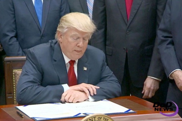 President Donald J. Trump signed the Veterans Choice Program Extension and Improvement Act on April 18, so military veterans can continue receiving health care in the civilian sector when care is not easily accessible from a Veterans Affairs Department provider.