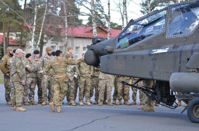 Task Force Falcon Soldiers brief capabilities during Operation Summer Shield