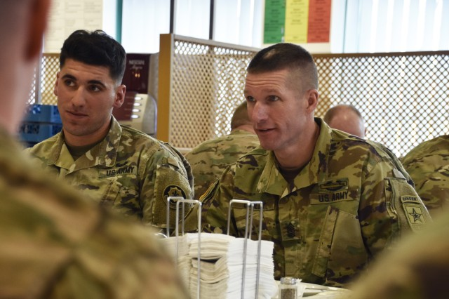 Lunch with SMA Dailey: 2CR Soldiers talk modernization, training and mentorship