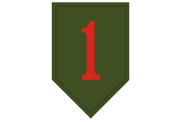 1st Infantry Division shoulder insignia.