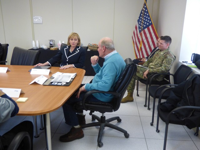 Lt. Gov. Kimberly Guadagno visited the CERDEC Ground Activity to learn about the mission growth path, March 30.