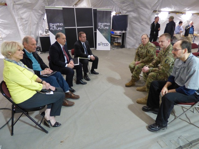 Lt. Gov. Guadagno's team met with visiting soldiers who spoke on why the CGA capabilities have been important to get their objectives done.