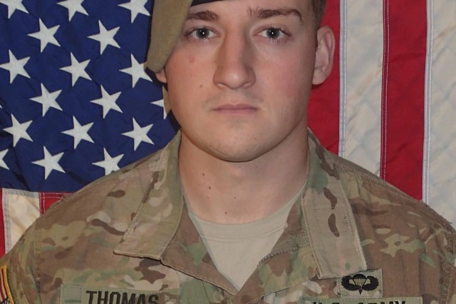 Sgt. Cameron H. Thomas, 23, who was assigned to Company D, 3rd Battalion, 75th Ranger Regiment
