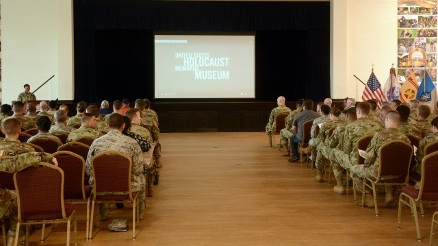 "704th MI hosts the Holocaust Days of Remembrance, ""The Strength of the Human Spirit"""
