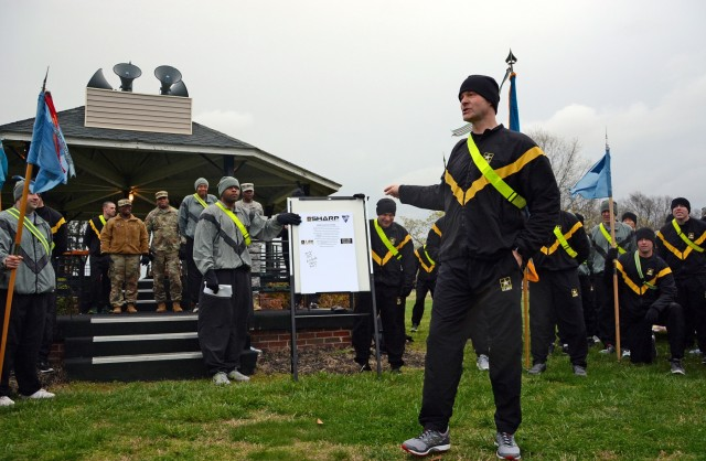 Electron Recon Brigade Soldiers run to support SHARP awareness month