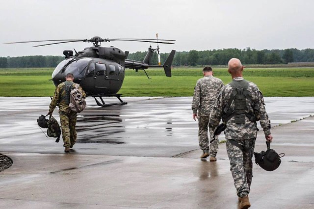 Missouri National Guard Soldiers are flying Black Hawk and Lakotas to conduct aerial river surveillance and rescue operations in support of state emergency response efforts. Guard members are conducting a number of missions across the state, including hauling sandbags and transporting first responders.